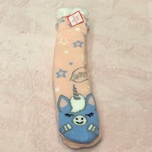 Justice soft slipper sock size M/L
